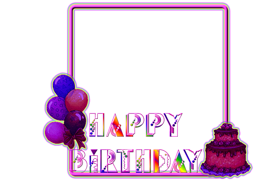 Brightly coloured Birthday Frame