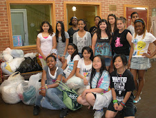 Swanson Middle Schoolers Bring Bundles for Blankets and other linens