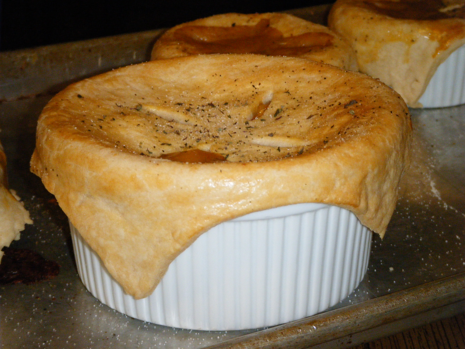 What About Pie: Individual Chicken Pot Pies