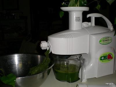 買對慢速的搾汁機也蠻講究的,益用丶容易清洗丶價錢合理等等都需列入考慮,否則會後悔的,以後再加以介紹!