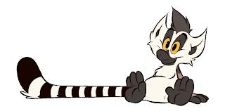 Kiki cartoon ring-tailed lemur