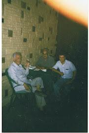 المؤلف مع عبد الله إمام
