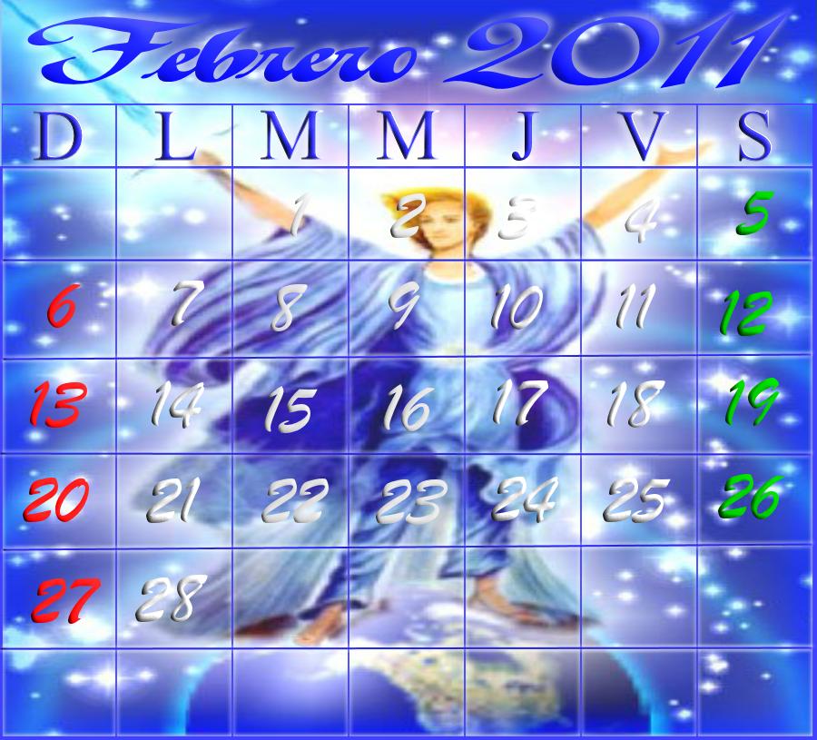 Calendario febrero 2011 del
