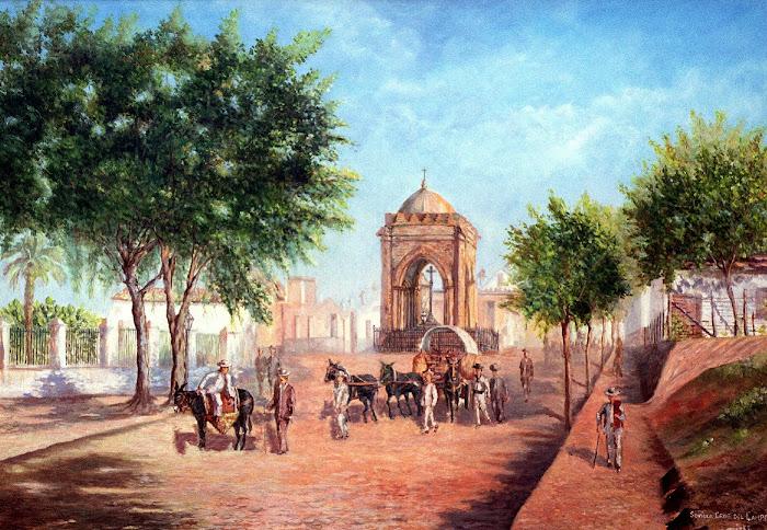 LA SEVILLA DE AYER. Templete de la Cruz del Campo, Sevilla