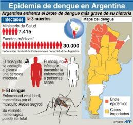 Mapa del Dengue en Argentina actual Abril 2009