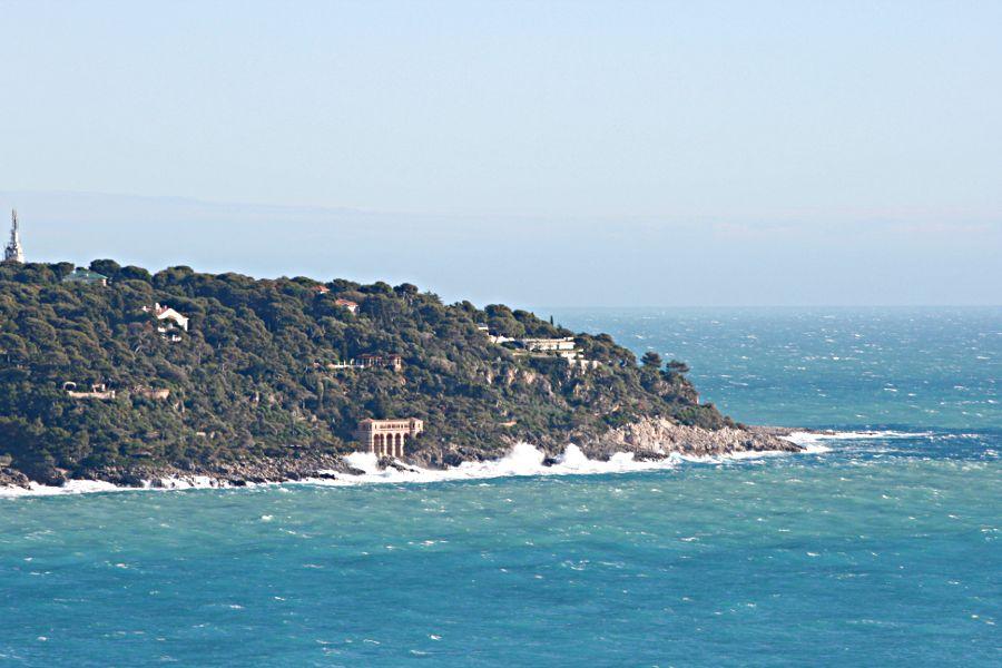 Roquebrune Cap Ferrat see from Monaco