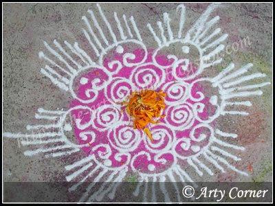 diwali rangoli design simple sanskar bharti rangoli