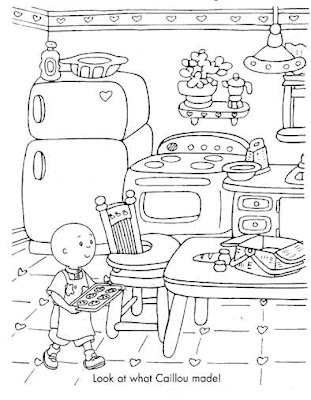 Calliou Coloring Pages