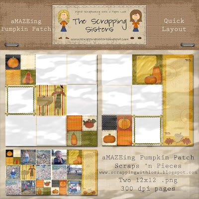 http://scrappingsisters.blogspot.com/2009/10/amazeing-pumpkin-patch-template-pack.html