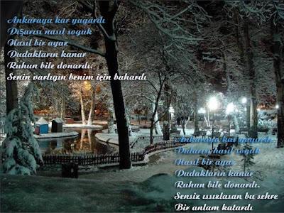 Ankaraya kar yağardı