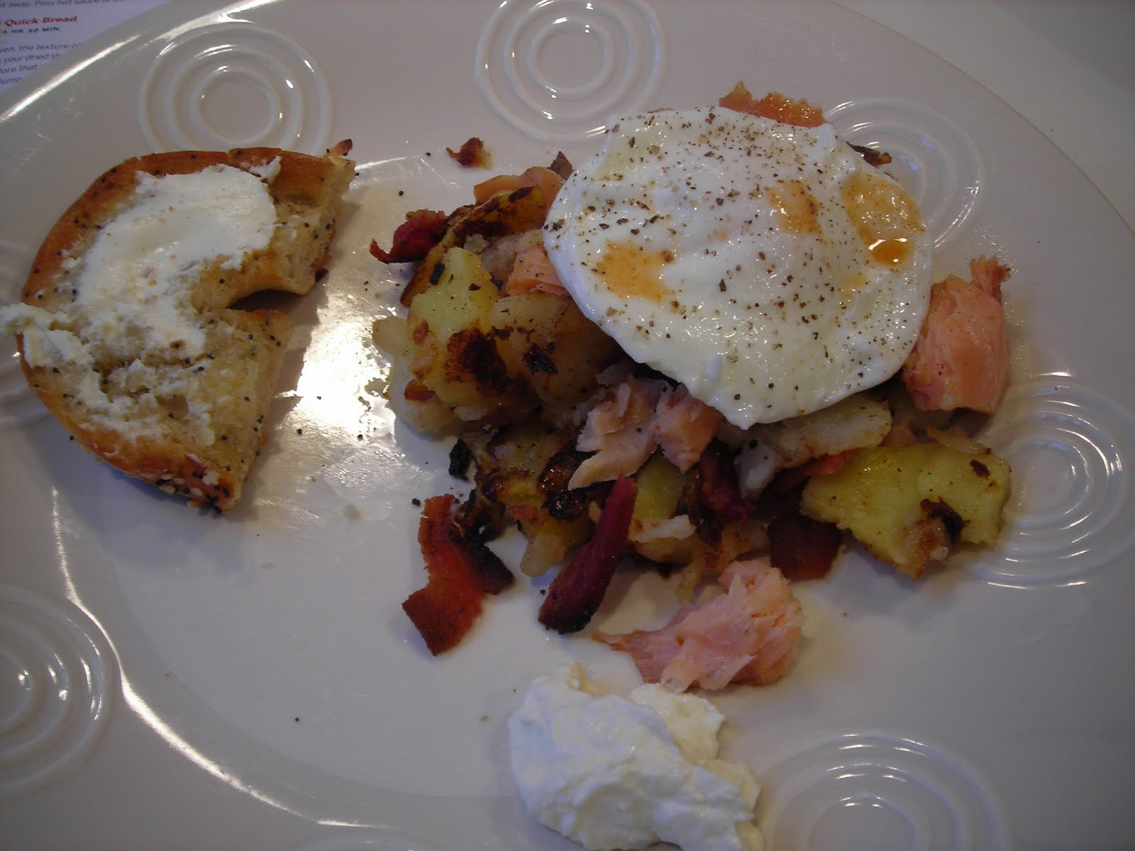market recipes: Smoked Salmon Hash -A Breakfast Joy would have loved
