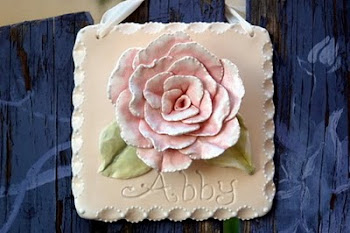 Personalized Rose Plaque w/ child's name
