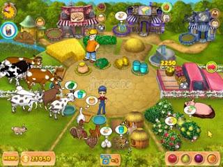 Playing Game Farm Mania