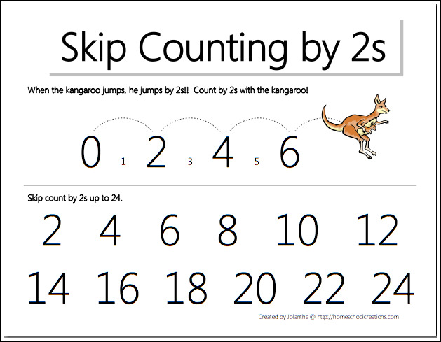 Number Names Worksheets Skip Counting By 2 Worksheet Free