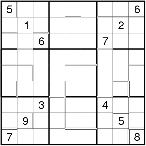 picture about Multi Sudoku Printable named The Sensible World wide of Puzzles: Regulations of Consecutive Sudoku