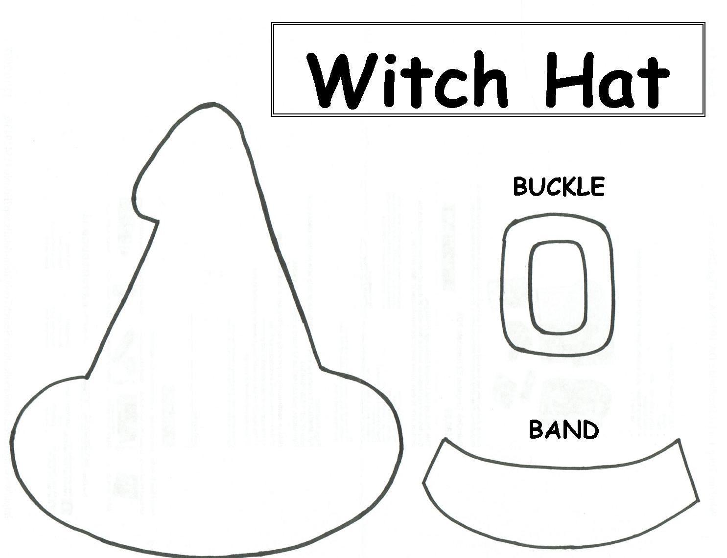 Handy image throughout witches hat template printable
