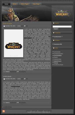 free world of warcraft wp theme