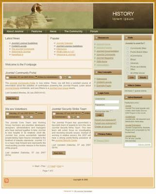 joomla template for blog website