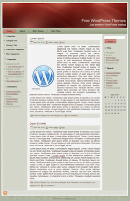 3 column simple wordpress theme