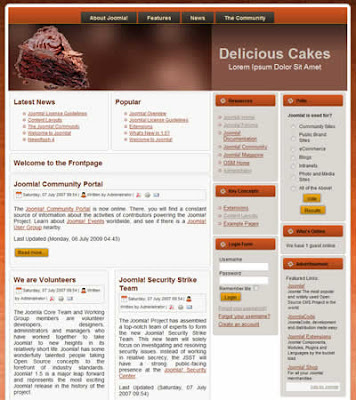 joomla 1.5 CSS food and drink template