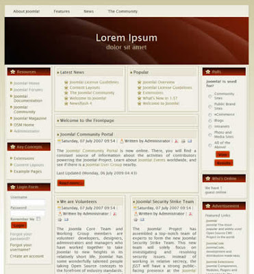 joomla 1.5 portal template