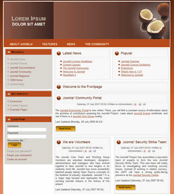 2 column Joomla 1.5 template