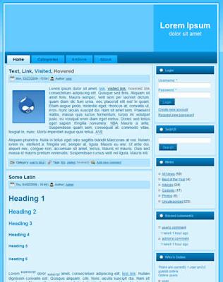 free drupal blue theme