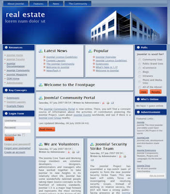 joomla 1.5 free real estate template