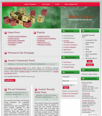 joomla 1.5 christmas template