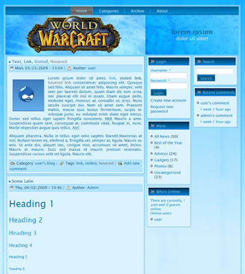 drupal world of warcraft theme