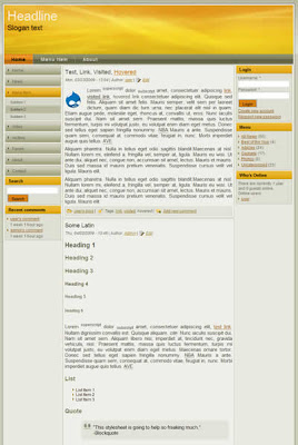 simple 3 column drupal theme