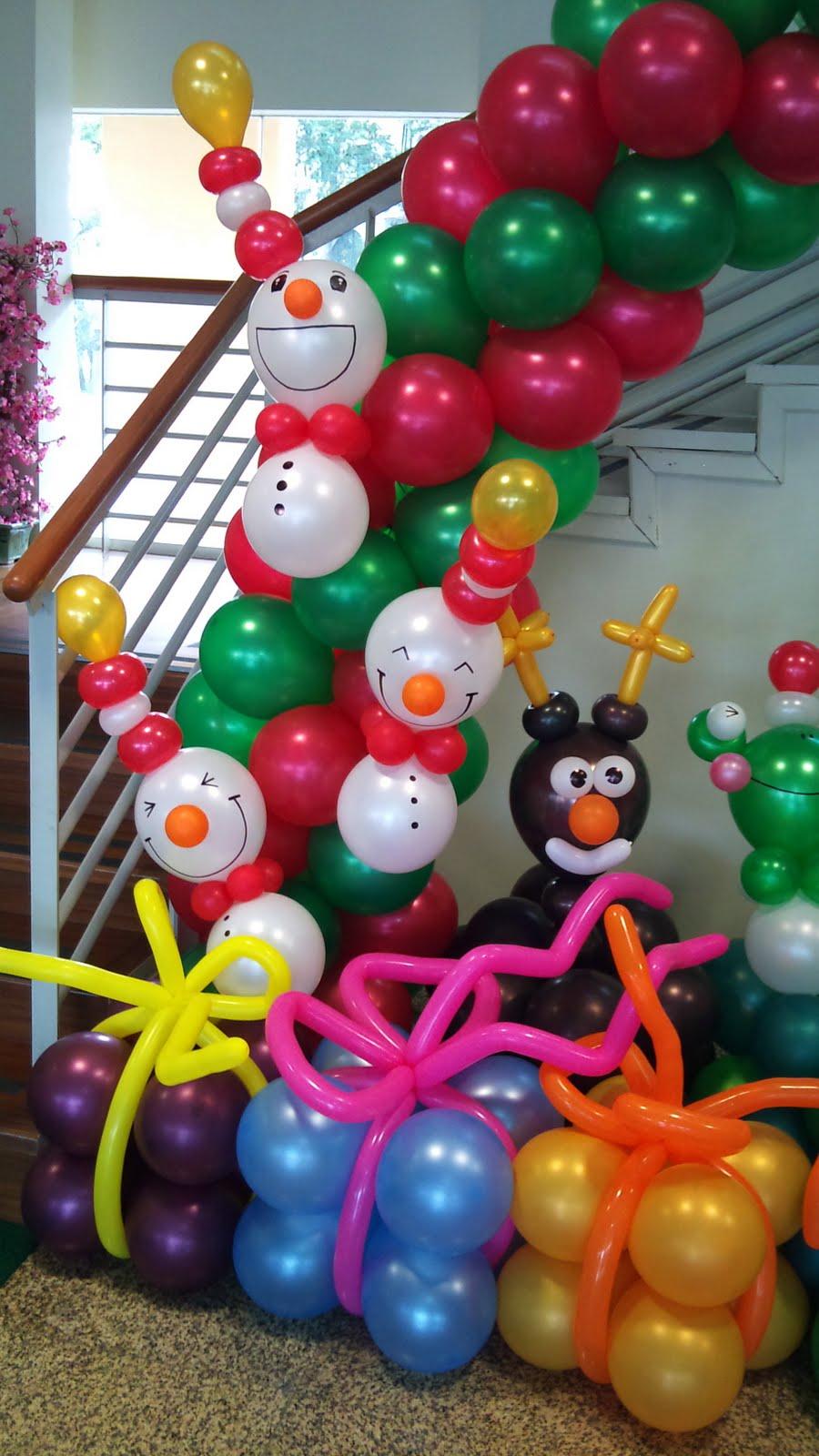 Balloon decorations for weddings birthday parties balloon sculptures in kuching and miri - Ideas decoracion navidad ...
