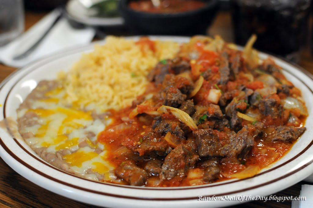 Steak Picado Burrito Meal is Steak Picado