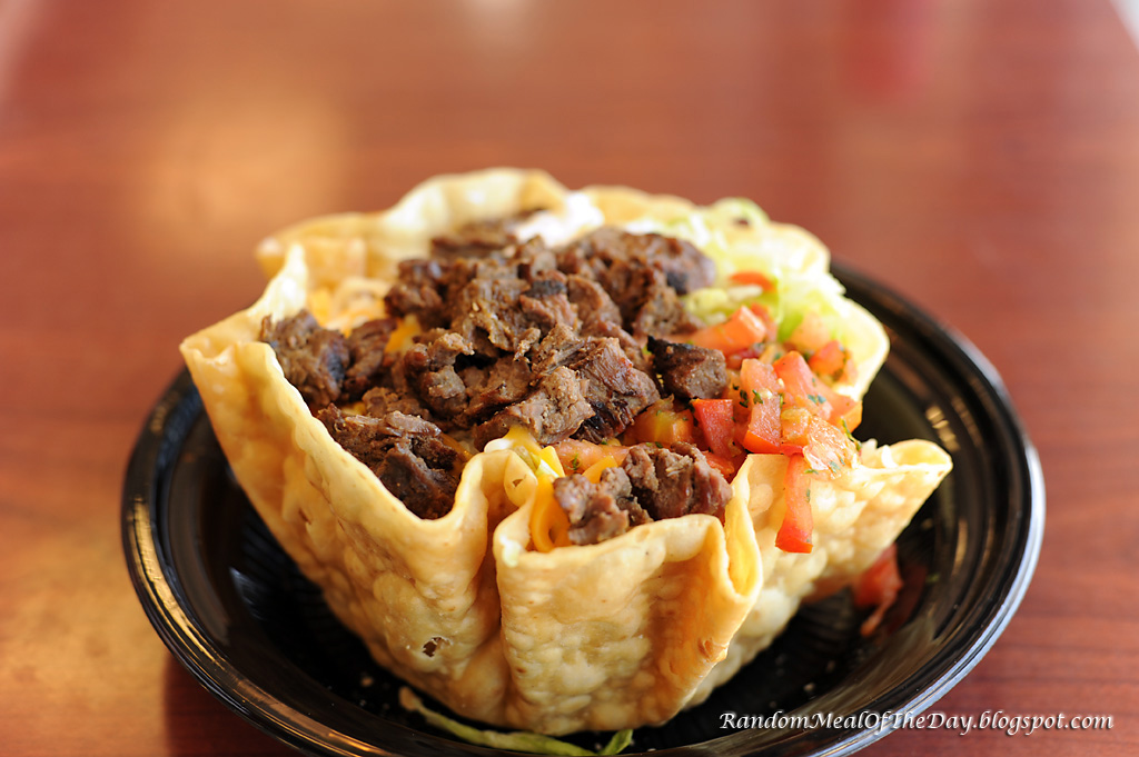 Random Meal Of The Day: El Pollo Loco Carne Asada Steak Tostada Salad