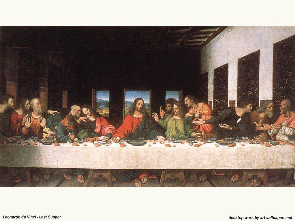ultima cena de leonardo davinchi: