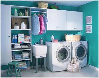 como equipar y decorar el cuarto de lavado