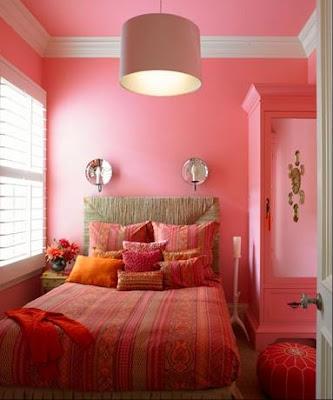 decoracion con rosa y naranja