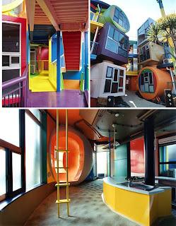 arquitectura colorista y formal en Tokyo