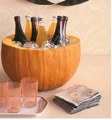 Sirve las bebidas bien frias en Halloween