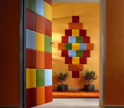 decorar paredes y puertas con cuero