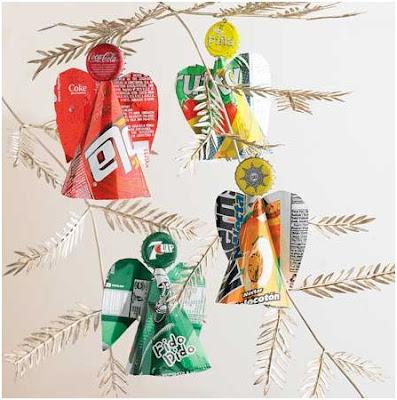 decoracion reciclada de navidad