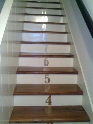 decoracion de una escalera