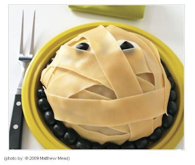 Momia comestible para decorar la mesa en Halloween