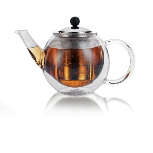 idealteapots glass teapot by bodum bora bora double walled 0 5 litres. Black Bedroom Furniture Sets. Home Design Ideas