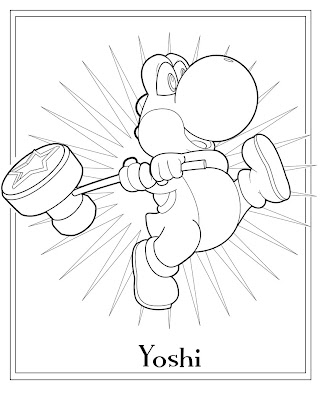 Mario Coloring on Yoshi Coloring Page Mario Luigi And All Related Content Are Copyright