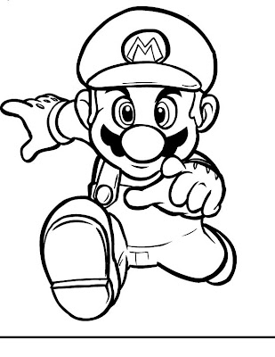 Super Mario Coloring Pages 5 jimbo's Coloring Pages: Mario Running