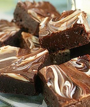 Marbled Cream Cheese Brownie - Sheer Chocolate Indulgence - Fun and ...