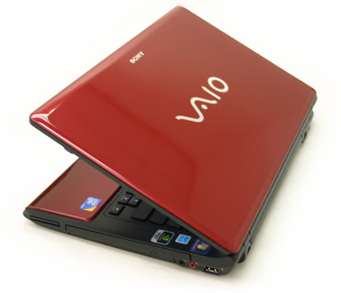 Fiery Red Sony Vaio