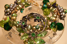 Vintage Repurposed Green Bracelet