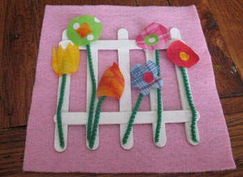 how to make fabric stick to paper